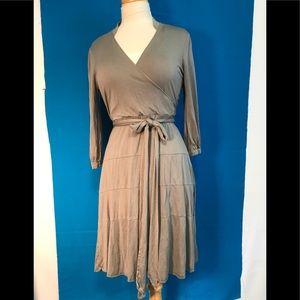 Banana Republic Silk Faux Wrap Dress S
